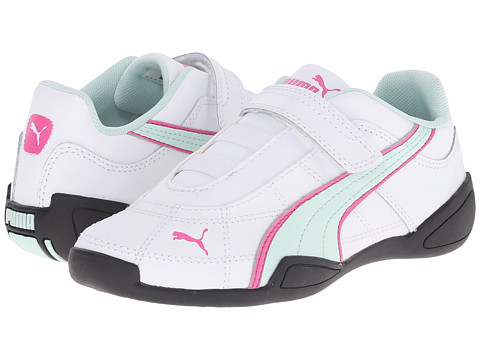 Puma Kids - Tune Cat B 2 V (Toddler/Little Kid/Big Kid) (White/Fair Aqua/Carmine Rose) Girls Shoes