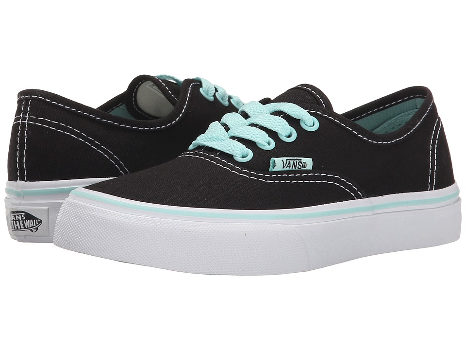 Vans Kids - Authentic (Little Kid/Big Kid) ((Pop) Black/Blue Tint) Girls Shoes
