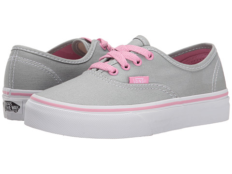 Vans Kids - Authentic (Little Kid/Big Kid) ((Pop) High-Rise/Prism Pink) Girls Shoes
