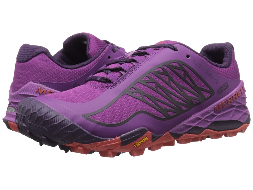 Merrell - All Out Terra Ice Waterproof (Purple) Women's Running Shoes