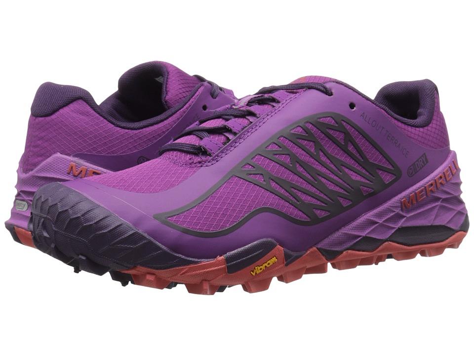 Merrell - All Out Terra Ice Waterproof (Purple) Women's Running Shoes