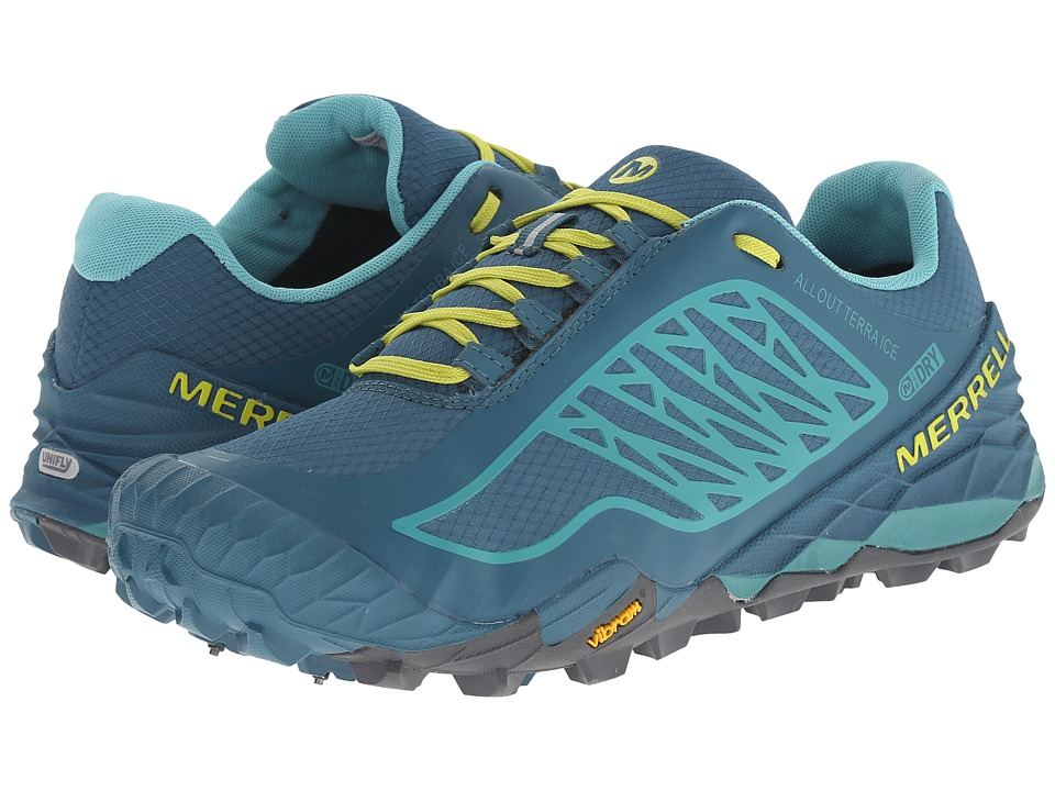 Merrell - All Out Terra Ice Waterproof (Dragonfly/Bright Yellow) Women's Running Shoes