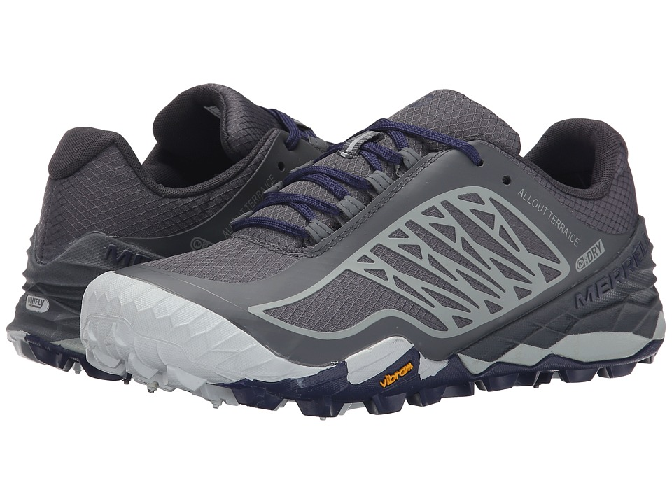 Merrell - All Out Terra Ice Waterproof (Grey/Royal Blue) Women