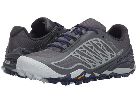 Merrell - All Out Terra Ice Waterproof (Grey/Royal Blue) Women's Running Shoes