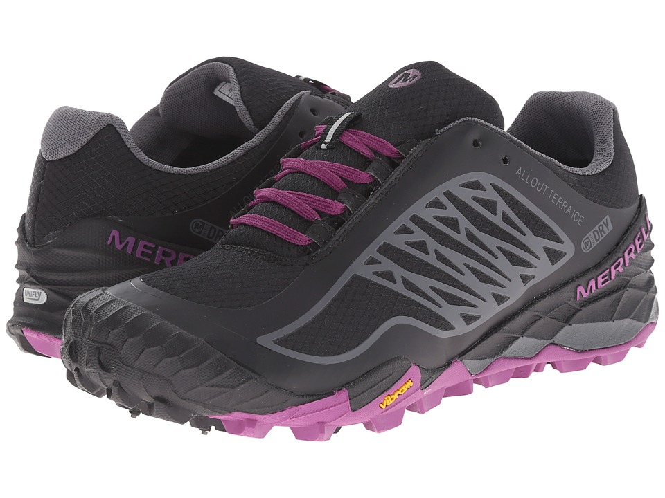 Merrell - All Out Terra Ice Waterproof (Black/Purple) Women