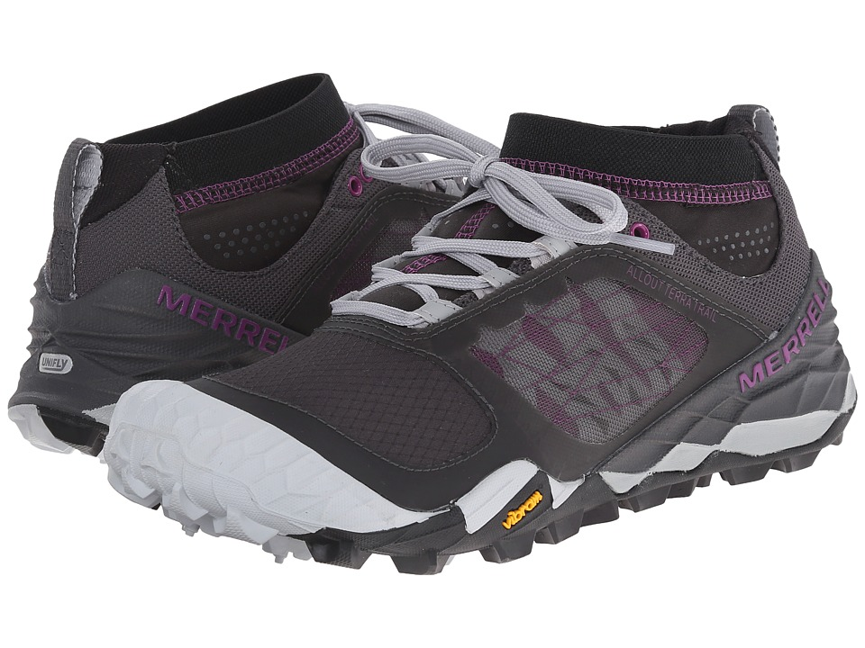 Merrell - All Out Terra Trail (Black/Purple) Women's Running Shoes