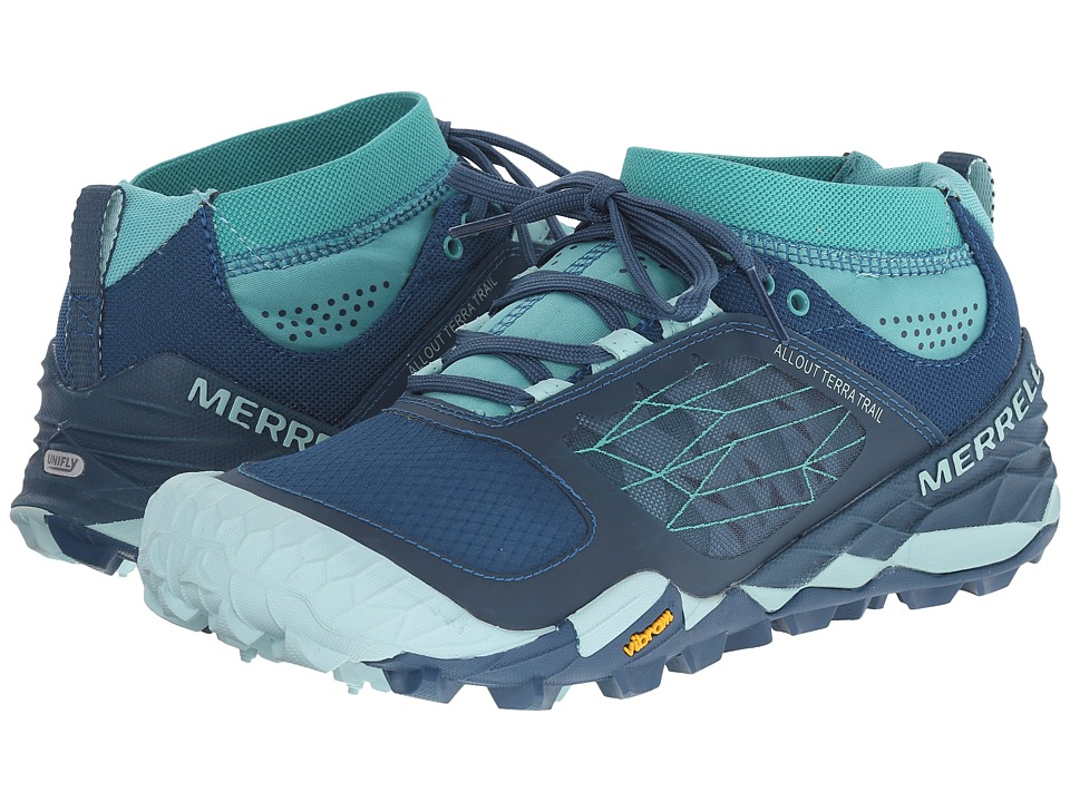 Merrell - All Out Terra Trail (Blue/Aqua) Women's Running Shoes