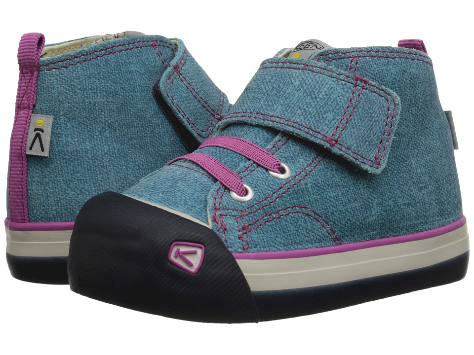 Keen Kids - Coronado High Top Leather (Toddler) (Lagoon/Dahlia Mauve) Girl's Shoes
