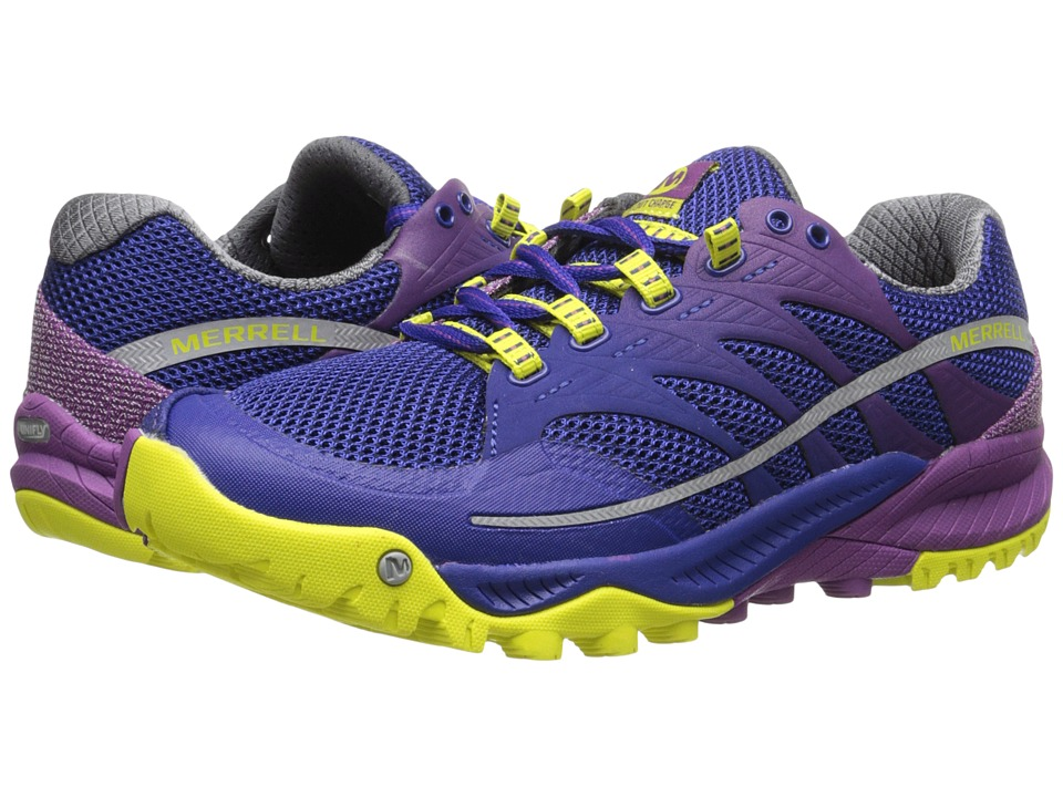 Merrell - All Out Charge (Wild Plum/Lime) Women's Running Shoes