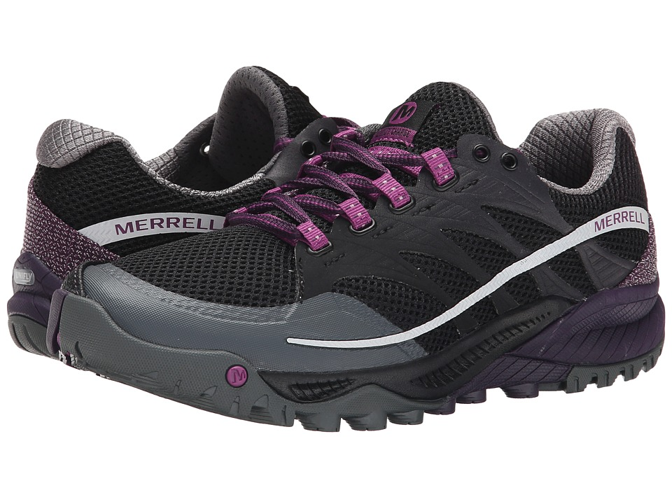 Merrell - All Out Charge (Black/Wild Plum) Women's Running Shoes