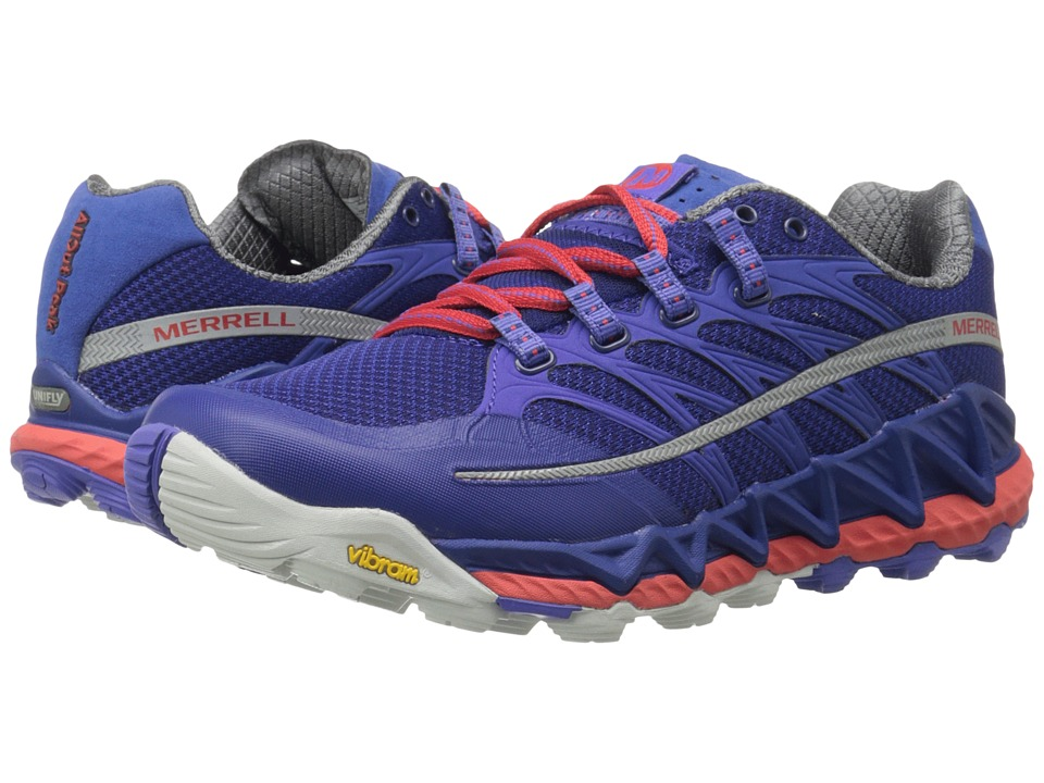 Merrell - All Out Peak (Royal Blue/Orange) Women's Shoes
