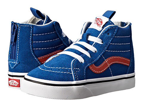 Vans Kids - SK8 Hi Zip (Toddler/Little Kid) ((Golden Coast) Olympian Blue/Burnt Ochre) Boys Shoes
