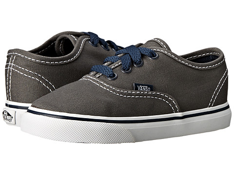 Vans Kids - Authentic (Toddler) ((Pop) Pewter/Dress Blues) Boys Shoes