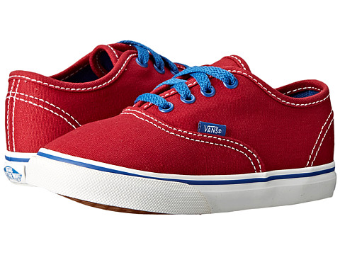 Vans Kids - Authentic (Toddler) ((Pop) Jester Red/Blue) Boys Shoes