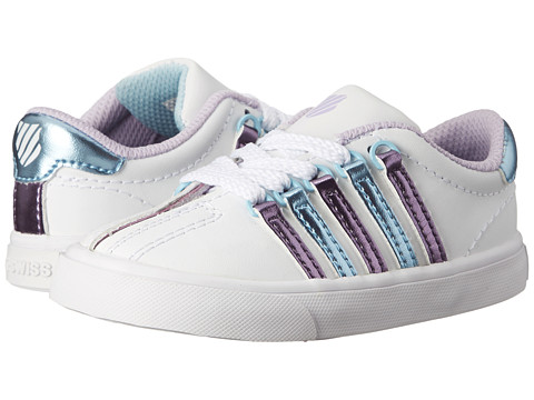 K-Swiss Kids - Classic VN (Infant/Toddler) (White/Pastel Lilac/Blue Haven) Girls Shoes