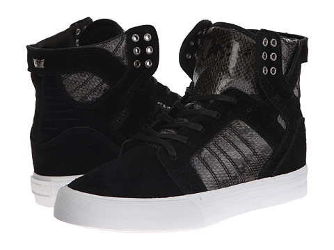 Supra - Elyse Walker Skytop Wedge (Black/White) Women
