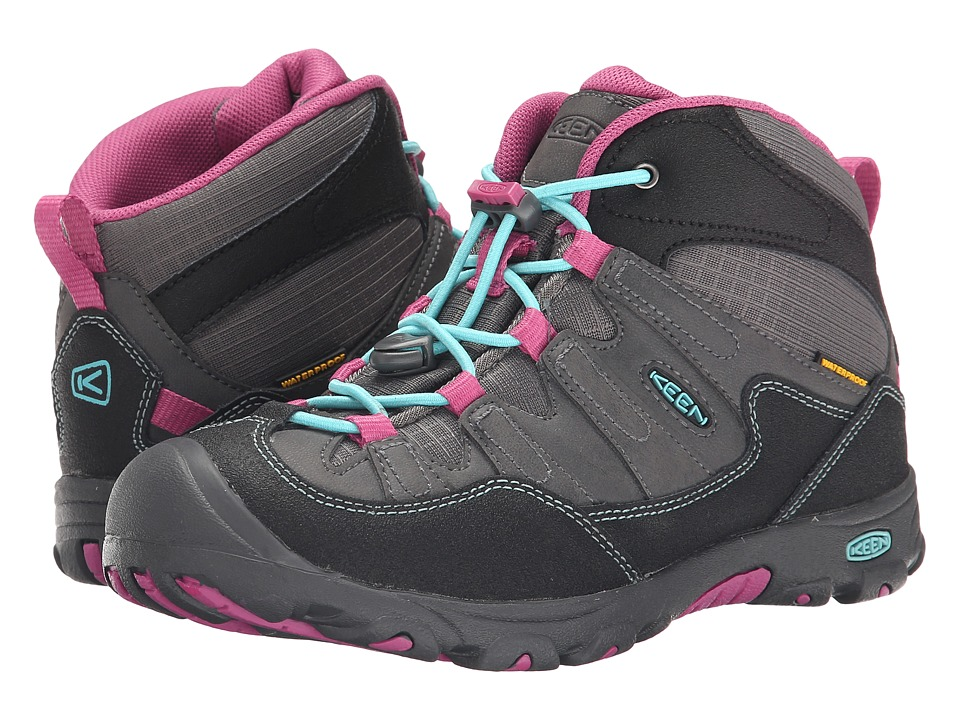 Keen Kids - Pagosa Mid WP (Little Kid/Big Kid) (Magnet/Capri) Boys Shoes