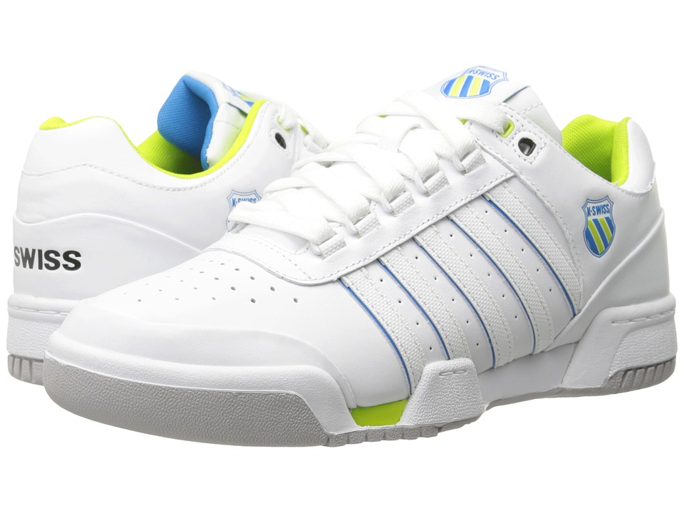 K-Swiss - Gstaad (White/Blue Aster/Lime Punch) Men's Shoes