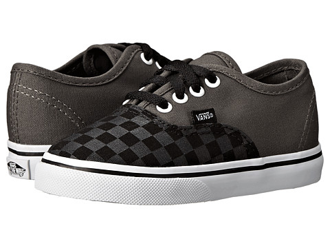 Vans Kids - Authentic (Toddler) ((Tonal Checker) Pewter/Black) Boys Shoes