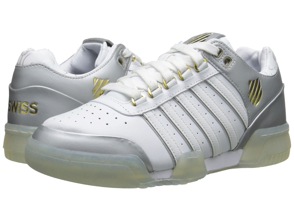 K-Swiss - Gstaad (White/Silver/Gold) Women