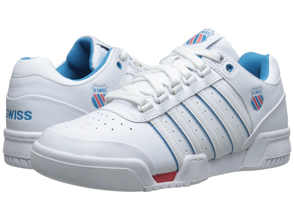 K-Swiss - Gstaad (White/Blue Danube/Rose of Sharon) Women's Tennis Shoes