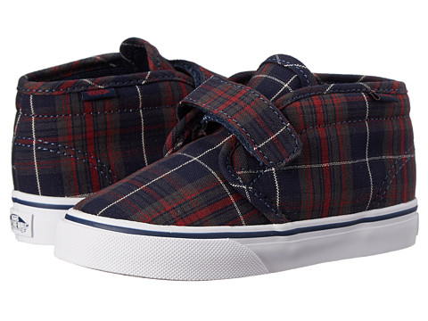 Vans Kids - Chukka V (Toddler) ((Plaid) Dress Blues) Boys Shoes