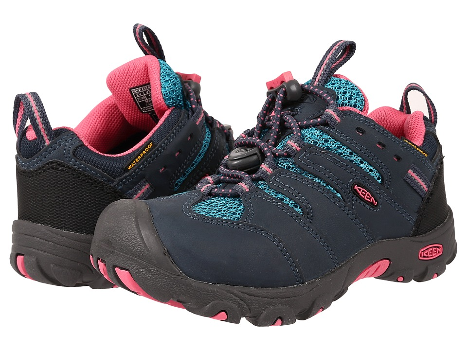 Keen Kids - Koven Low WP (Toddler/Little Kid) (Midnight Navy Capri Breeze) Girl's Shoes