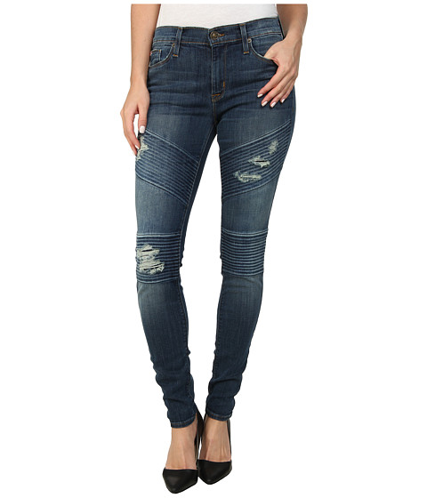Hudson - Brooklyn Moto Super Skinny in Walk Of Fame (Walk Of Fame) Women's Jeans