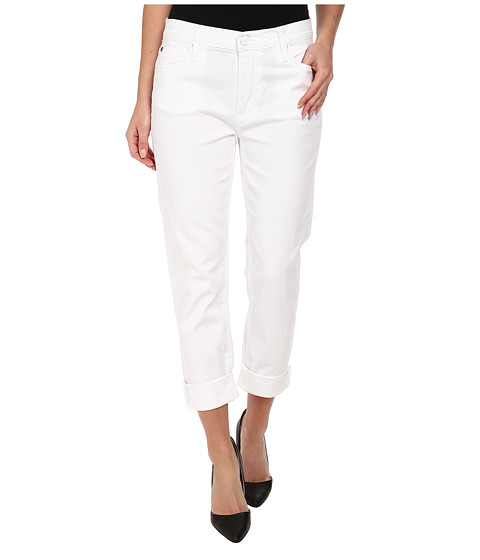 Hudson - Jude Slouch Skinny Crop in White 2 (White 2) Women's Jeans