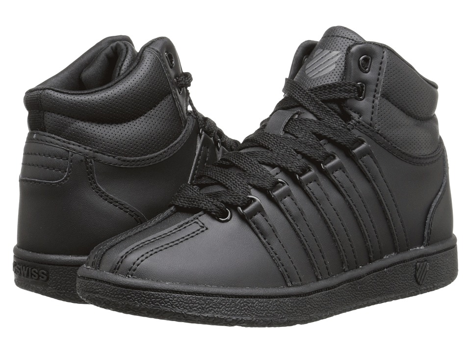 K-Swiss Kids - Classic VN Mid (Little Kid) (Black/Black) Kids Shoes