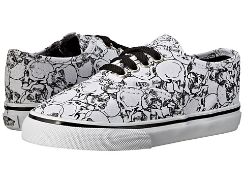 Vans Kids - Color Me Authentic (Toddler) ((Color Me) Skulls/True White) Kids Shoes