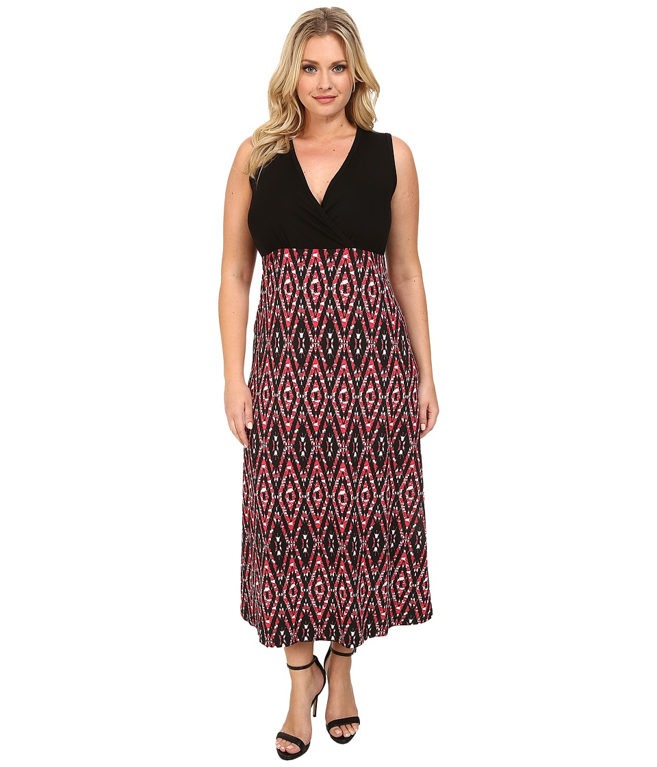 Karen Kane Plus - Plus Size Print Maxi Tank Dress (Print) Women's Dress