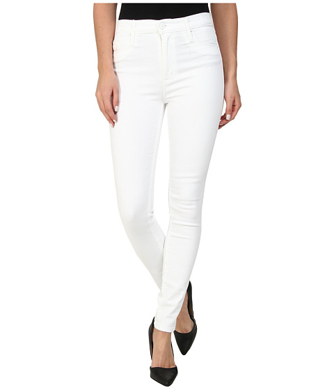 Hudson - Barbara High Waist Skinny in White (White) Women
