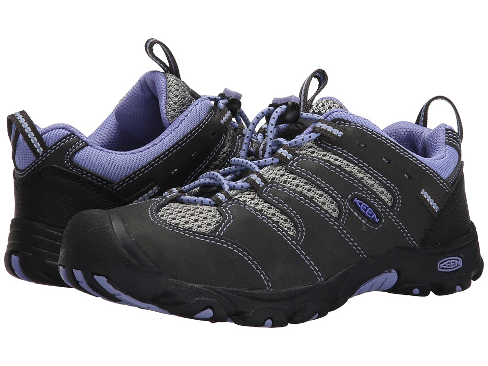 Keen Kids - Koven Low (Little Kid/Big Kid) (Raven/Periwinkle) Girl's Shoes