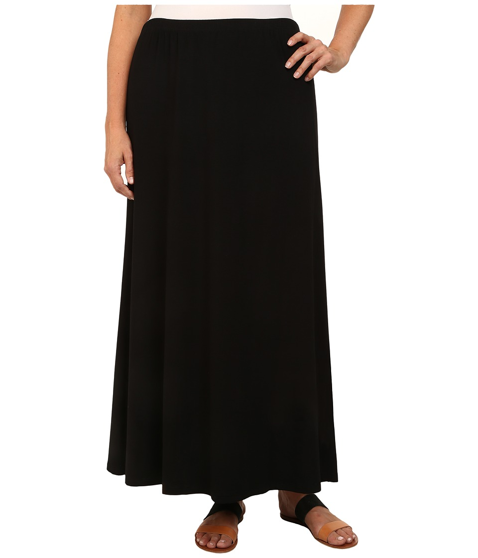 Karen Kane Plus - Plus Size High Slit Maxi Skirt (Black) Women