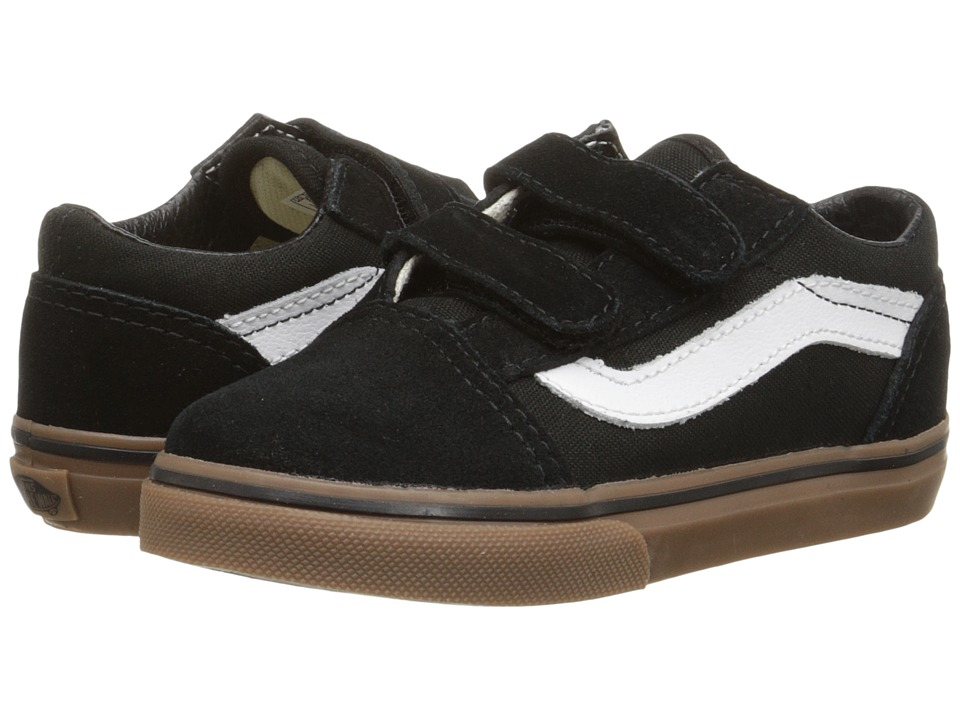 Vans Kids - Old Skool V (Toddler) ((Gumsole) Black/Medium Gum) Boys Shoes