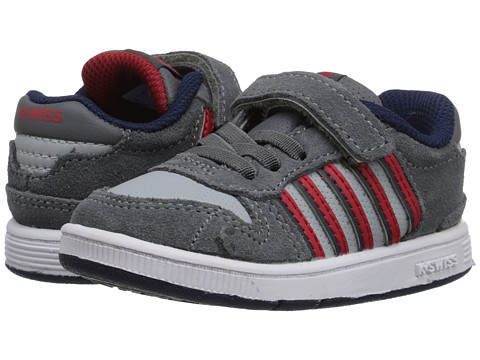 K-Swiss Kids - Jackson SDE VLC (Infant/Toddler) (Smoked Pearl/Storm/Mars Red) Boys Shoes