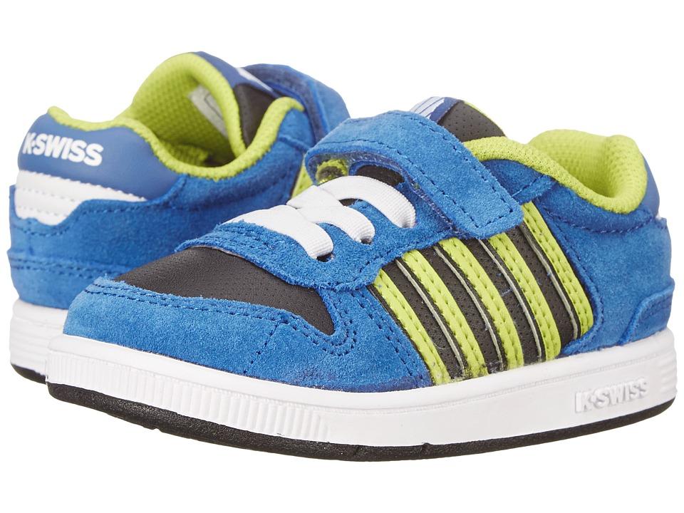 K-Swiss Kids - Jackson SDE VLC (Infant/Toddler) (Brunner Blue/Black/Lime Punch) Boys Shoes