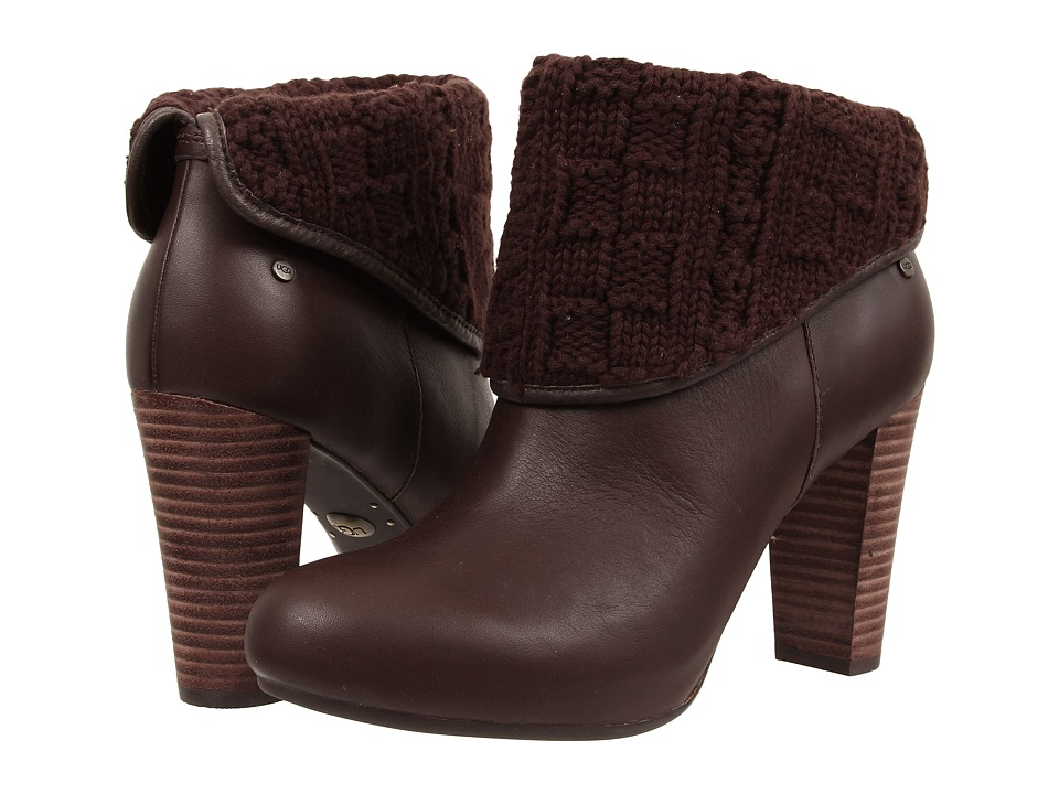 UGG - Dandylion Tres (Lodge Knit/Leather) Women's Zip Boots
