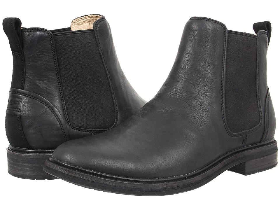 UGG - Leif (Black Leather) Men's Pull-on Boots