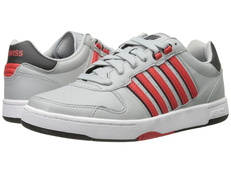 K-Swiss - Jackson (Storm/Fiery Red/Black) Men's Tennis Shoes