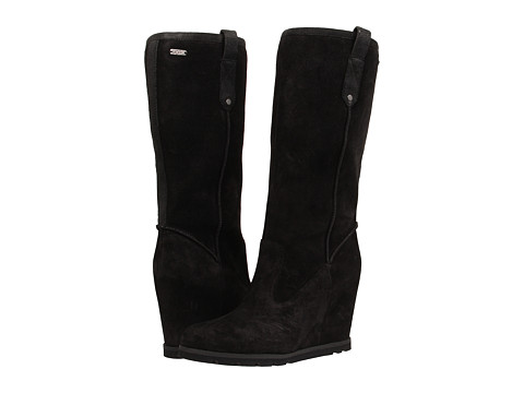 UGG - Soleil (Black Suede/Leather) Women's Pull-on Boots