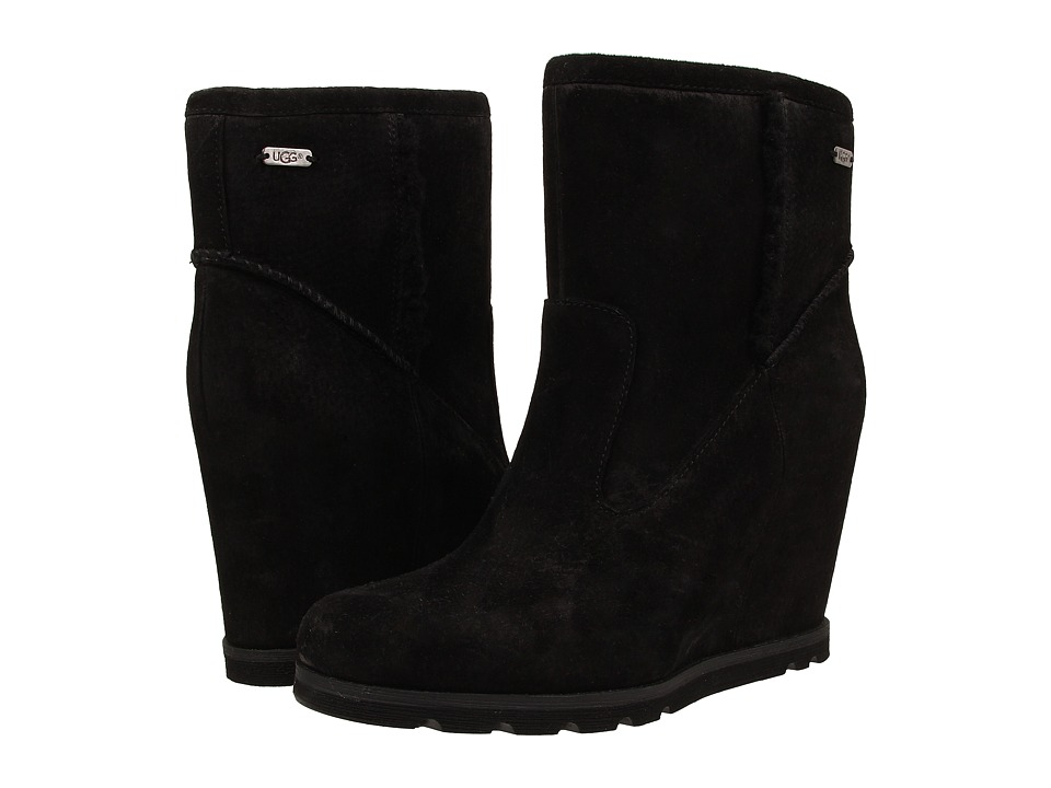 UGG - Jade (Black Suede) Women's Pull-on Boots