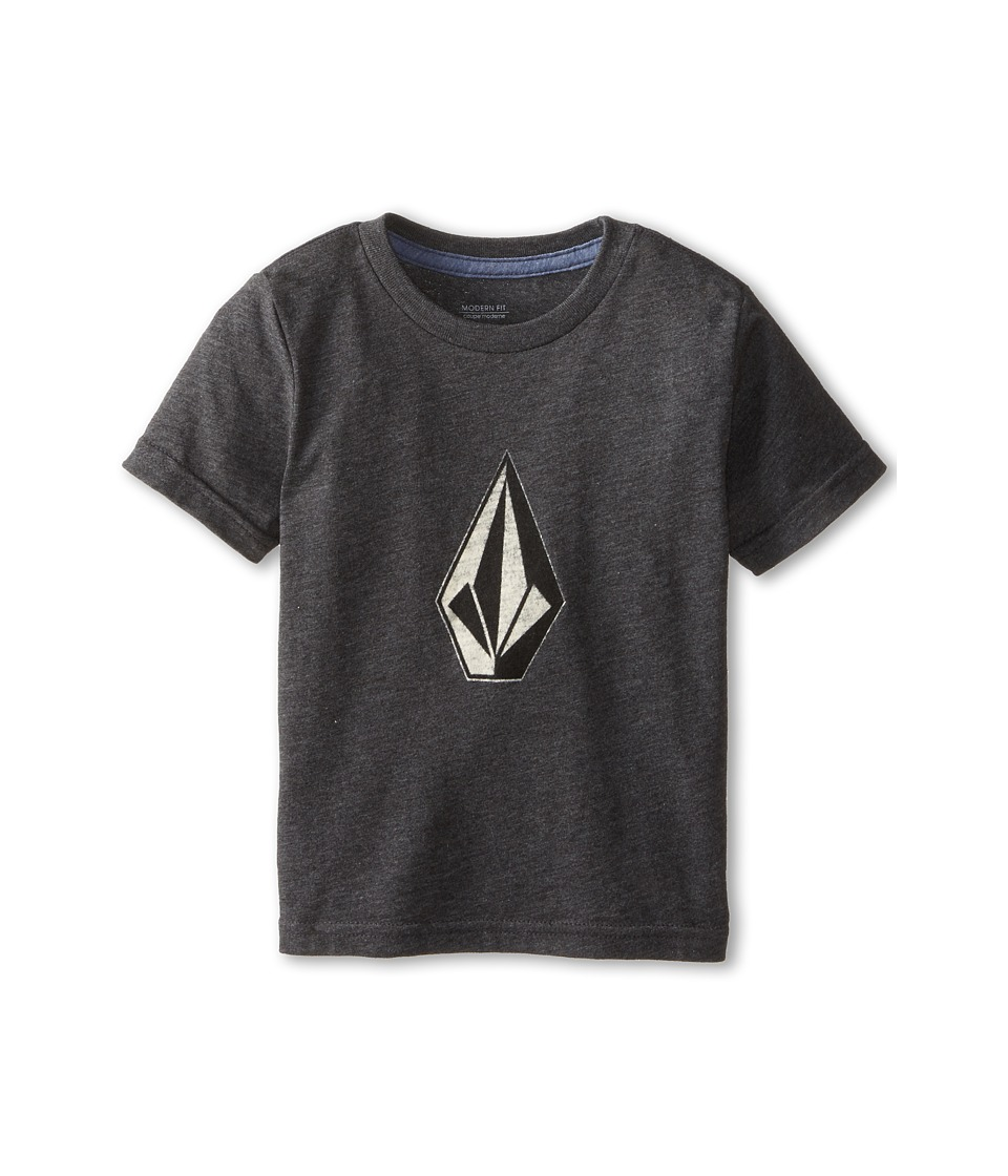 Volcom Kids - Say When Short Sleeve Tee (Toddler/Little Kids) (Black Heather) Boy's Short Sleeve Pullover