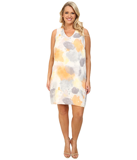DKNYC - Plus Size Sleeveless Dress (Spring Rain) Women's Dress