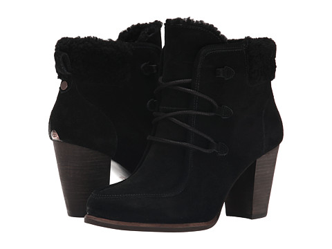 UGG - Analise (Black Suede) Women's Lace-up Boots