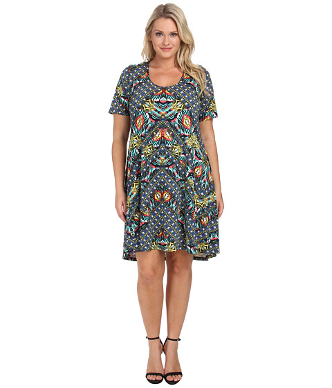 Karen Kane Plus - Plus Size Sewing Dress (Print) Women's Dress