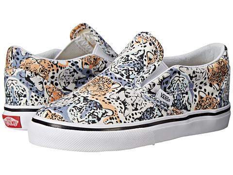 Vans Kids - Classic Slip-On (Toddler) ((Wild Cat) True White) Girls Shoes