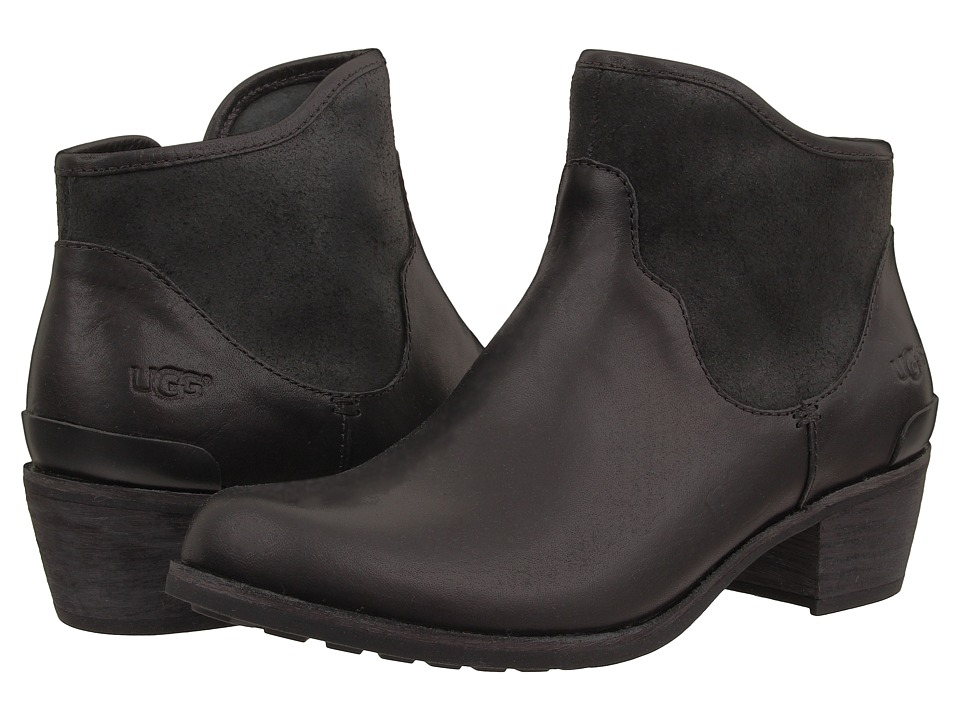 UGG - Penelope (Black Leather) Women