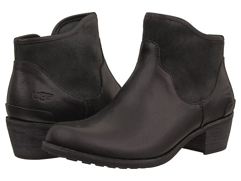 UGG - Penelope (Black Leather) Women's Boots